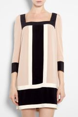 Alice By Temperley Rose Color Block Silk Tunic Dress in Pink (rose) - Lyst