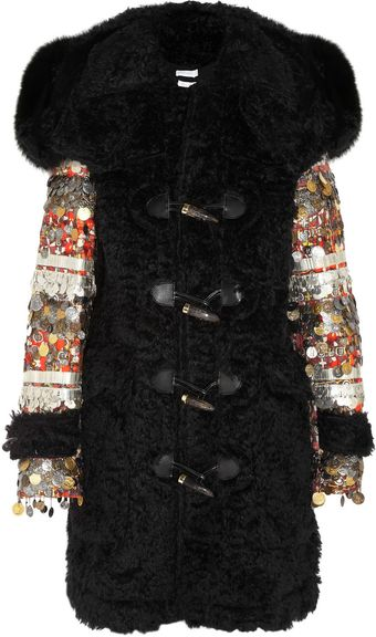 Altuzarra William Foxtrimmed Embellished Mohair Duffle Coat - Lyst