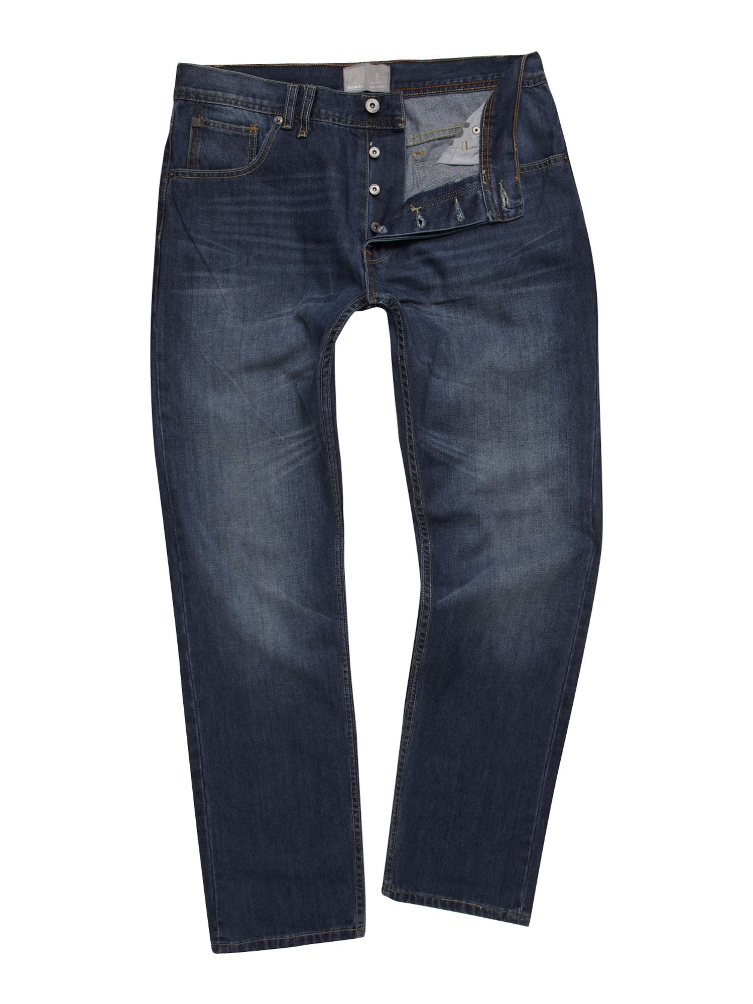 Bench Anti Fit Loose Jeans In Blue For Men Denim Lyst