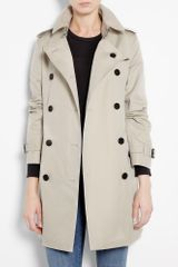 Burberry Brit Stone Cotton Trench Coat