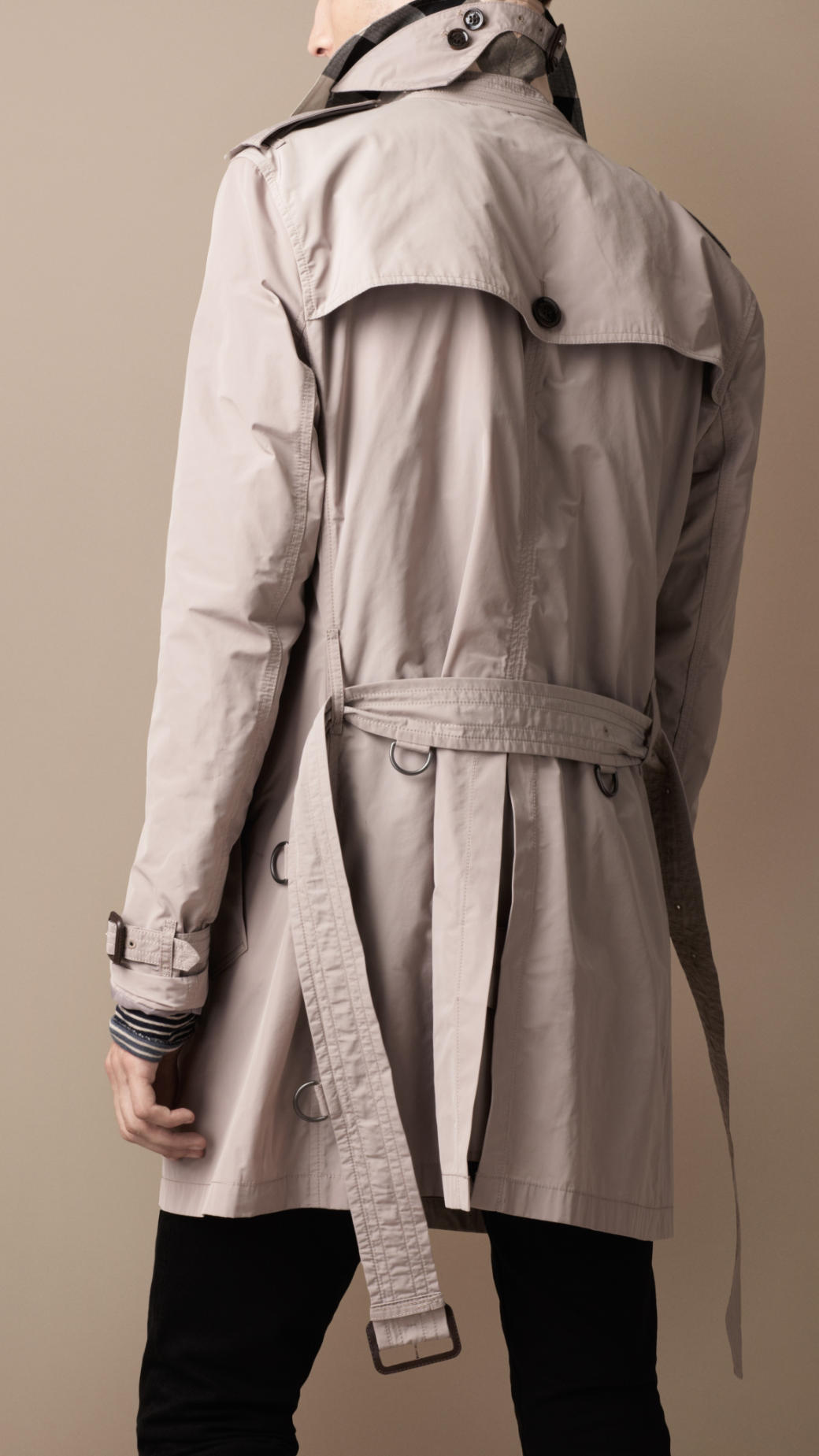 burberry brit packaway showerproof trench coat in brown. Black Bedroom Furniture Sets. Home Design Ideas