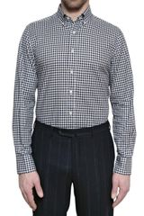 Canali Vichy Cotton Slim Fit Shirt - Lyst