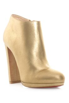 Christian Louboutin Rock and Gold Ankle Boots - Lyst