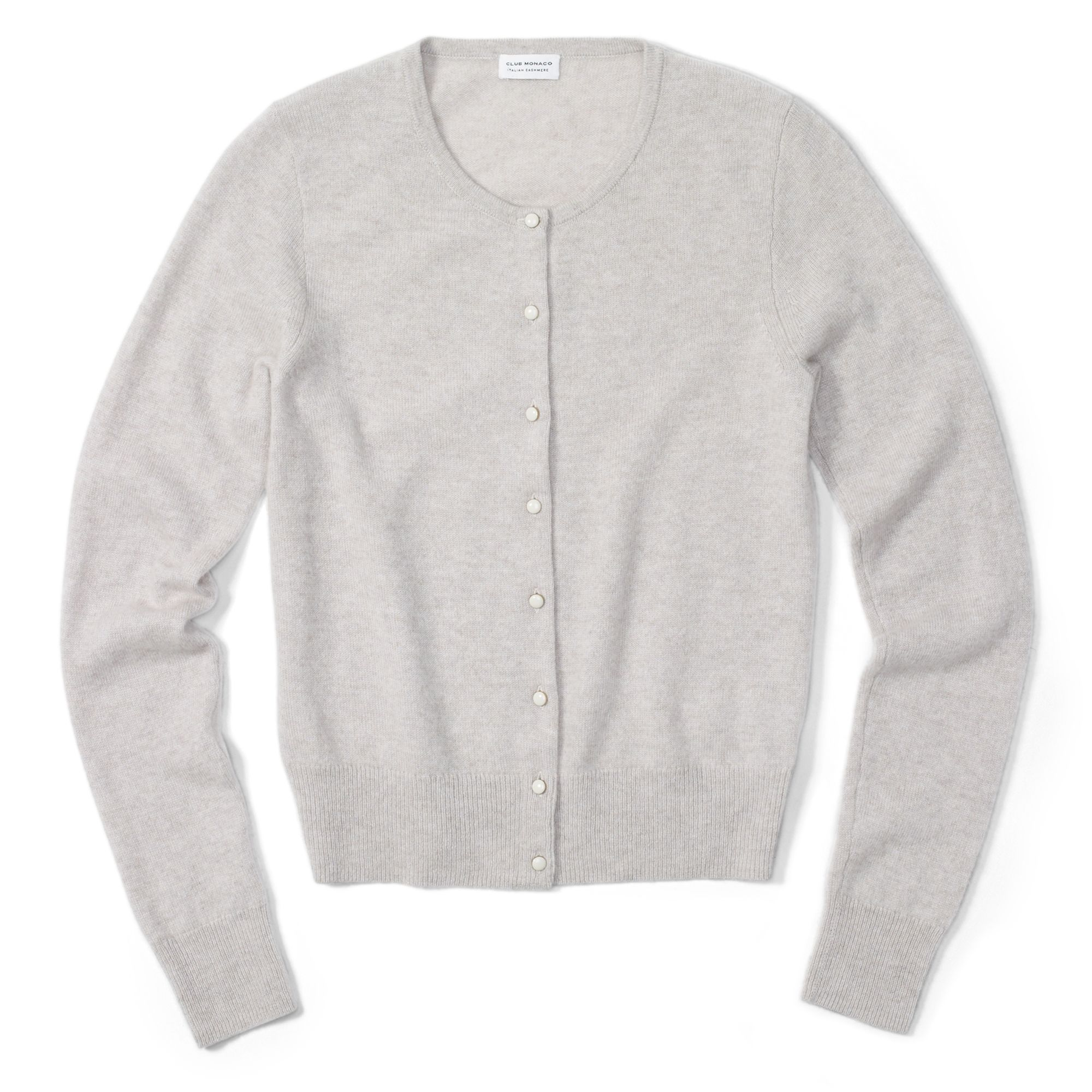 Club monaco Cashmere Cardigan in Gray | Lyst