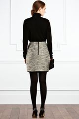 Coast Teasel Tweed Skirt in Gray (bronze) - Lyst