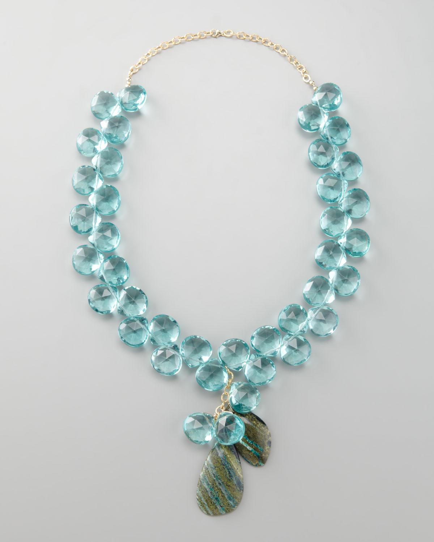 leigh blue quartz necklace in blue lyst