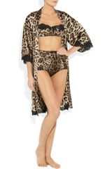Dolce & Gabbana Leopardprint Stretchsilk Balconette Bra in Animal (leopard) - Lyst