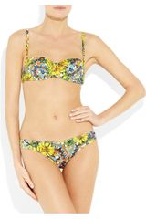 Dolce & Gabbana Printed Underwired Bandeau Bikini in Multicolor (multicolored) - Lyst