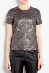 Elizabeth And James Embossed Brocade Effect Shell Top