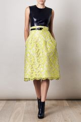 Erdem Nicole Sleeveless Dress in Yellow (navy) - Lyst