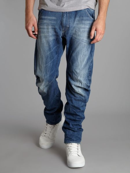 g star raw arc 3d loose tapered jeans in blue for men. Black Bedroom Furniture Sets. Home Design Ideas