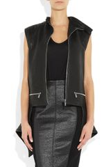 Haider Ackermann Quilted tail Leather Vest in Black - Lyst