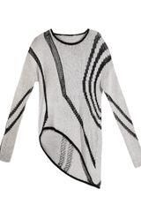 Helmut Lang Textured Intarsiaknit Sweater - Lyst