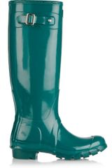Hunter Original Tall Wellington Boots in Green (lagoon) - Lyst