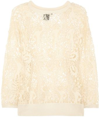 Isabel Marant Cotton Guipure Lace Top - Lyst