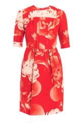 Jonathan Saunders Mila Peonyprint Dress - Lyst