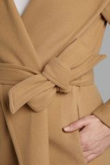 Lauren By Ralph Lauren Shale Wrap Coat in Beige (camel) - Lyst