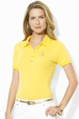 Lauren by Ralph Lauren Short Sleeved Polo - Lyst