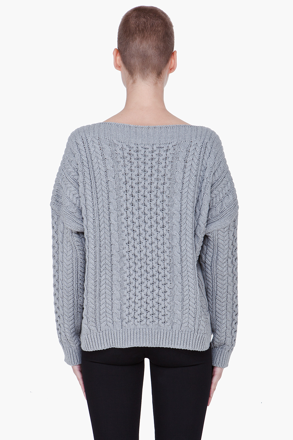 lyst marc by marc jacobs geraldine sweater in gray. Black Bedroom Furniture Sets. Home Design Ideas