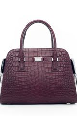 Michael Kors Gia Embossed Satchel - Lyst
