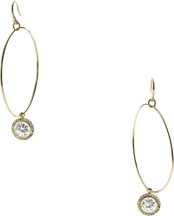 Michael Kors Hoop with Drop Earrings  - Lyst