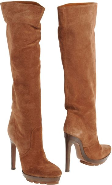 Michael Kors High Heeled Boots in Brown (green) - Lyst