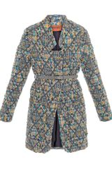 Missoni Boucle Inverted lapel Coat - Lyst