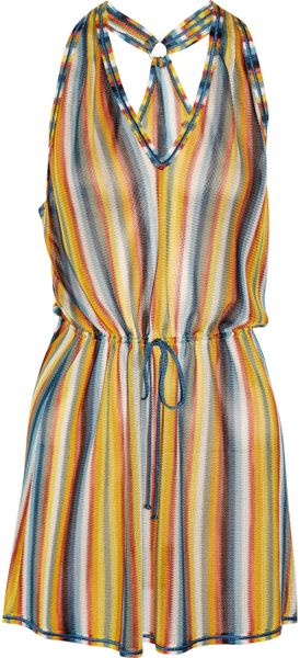 Missoni Striped Crochetknit Beach Dress in Multicolor (multicolored) - Lyst