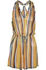 Missoni Striped Crochetknit Beach Dress - Lyst