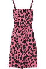 Moschino Cheap & Chic Printed Silkblend Dress - Lyst