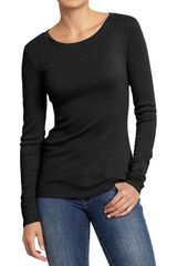 Old Navy Long Sleeved Crewneck Tee - Lyst