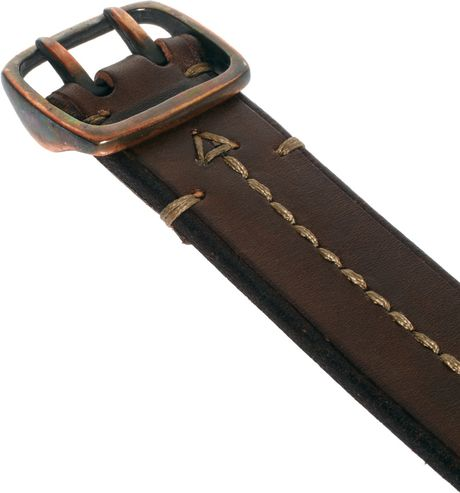 paul smith leather belt in brown for lyst