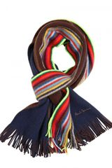 Paul Smith Reversible Striped Wool Scarf - Lyst