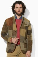 Polo Ralph Lauren Tweed Patchwork Sport Coat - Lyst