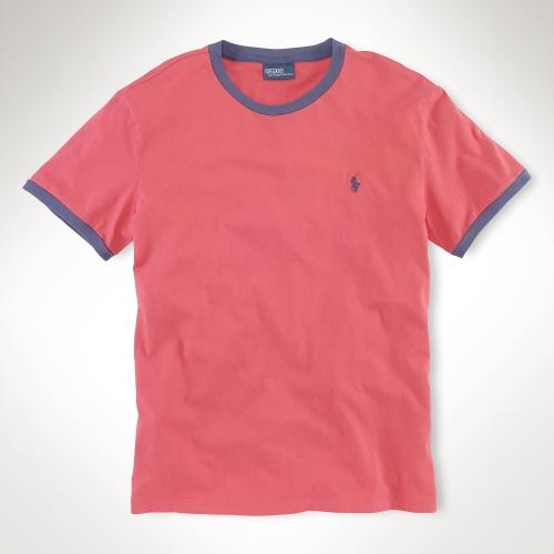 polo ralph lauren short sleeved ringer t shirt in red for