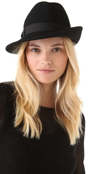 Rag & Bone Press Hat in Black - Lyst