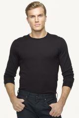 Black Label Merino Crew-neck Sweater - Lyst