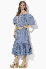 Ralph Lauren Blue Label Joelle Long Striped Dress - Lyst