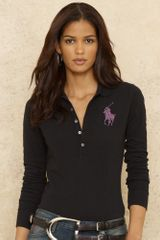 Ralph Lauren Blue Label Crystal Big Pony Polo - Lyst