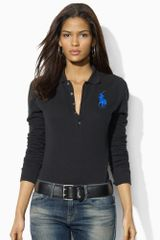 Ralph Lauren Blue Label Longsleeved Big Pony Polo - Lyst