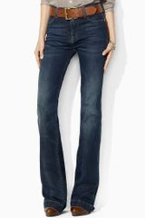 Ralph Lauren Blue Label Highrise Flared Stretch Jean - Lyst