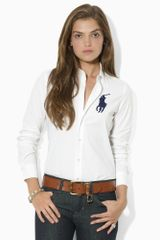 Ralph Lauren Blue Label Kayla Big Pony Shirt - Lyst