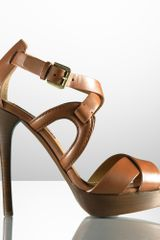Ralph Lauren Collection Equestrian Platform Sandal - Lyst