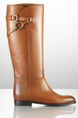 Ralph Lauren Collection Sachi Calfskin Riding Boot - Lyst