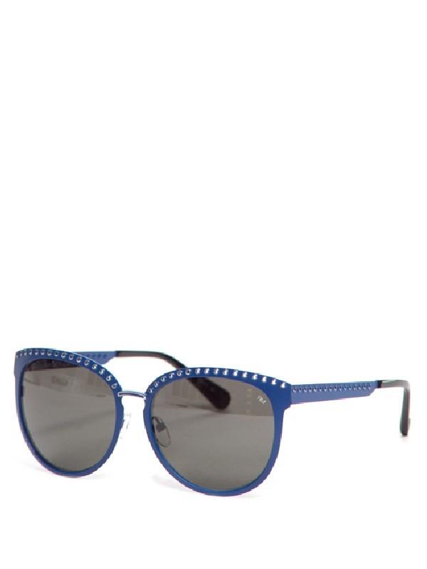 minkoff bedford sunglasses in blue lyst