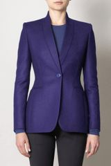 Stella Mccartney Domiziana Invertedl Lapel Jacket in Blue (cobalt) - Lyst
