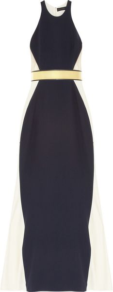 Stella McCartney Saskia Stretch Cady and Mesh Gown - Lyst