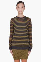 T By Alexander Wang Yellow Striped Knit Sweater - Lyst