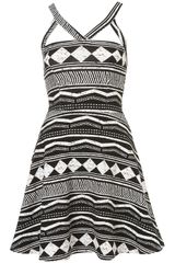 Topshop Aztec Strappy Flippy Tunic in Black - Lyst