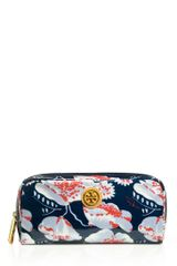 Tory Burch Printed Coated Poplin Cosmetic Case in Blue - Lyst